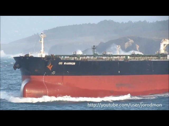 Oil Tanker DS WARRIOR leaving A Coruña