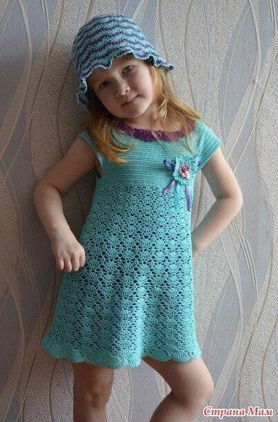 Платье на девочку летнее