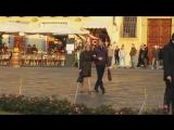 Mads Mikkelsen and Gillian Anderson at Santa Maria Novella Hannibal Season 3 Spo