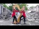 "METALLICA ""One"" - 2 Girls 1 Harp Harp Twins HARP METAL"