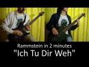 22) Rammstein - Ich Tu Dir Weh (Guitar Bass cover TAB | lesson HD)