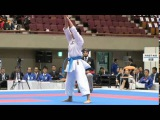 Grace Lau vs. Kiyou Shimizu - Female Kata FINAL - Asian Karate Championships 2015
