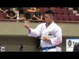 Chris Cheng vs. Ryo Kiyuna - Male Kata FINAL - Asian Karate Championships 2015