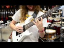 Sam Bell demos an Ibanez RG8 at Headstock Expo 2014
