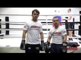 Дмитрий Кириллов и Артём Тарасов. Бокс. Комбинация из двух ударов.