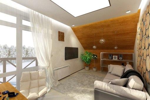 Интерьер спальни в современном стиле 12 кв.м