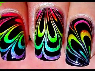 Rainbow Water Marble [no long nails]