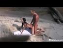 Молоденькая парочка трахается на пляже. Скрытая съемка spy cam