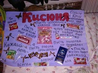Плакаты на день рождения со сладостями своими руками