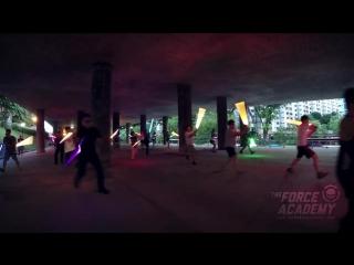 Дуэль на световых мечах в Сингапуре