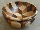 Чаша из дерева. С элементами оптической иллюзии. Своими руками/Woodturning -  Tumbling Bowl