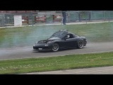 FD RX-7 Hood Flies Up During Tandem Train and Keeps Drifting - CAN'T STOP DRIFT TEAM HIGH FADE