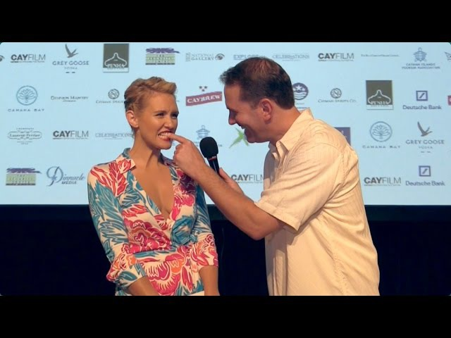 MediocreFilms - Touching Celebrities Teeth on the RED CARPET! - CayFilm Festival