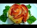 Блюда из слоенного теста Розочки с ветчиной и сыром Вкусная выпечка