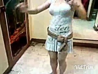 Arabic cute girl hot belly dance, homemade video.