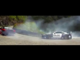 Drift   Crazy touge in mountain Police vs Drifter