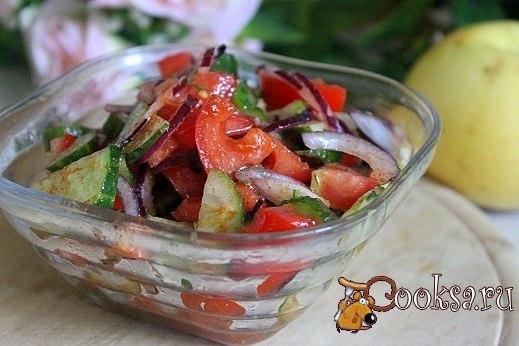 Овощная сальса Овощной салат с пикантными нотками. Отлично подходит к мясу, шашлыкам, запеченной и жареной птице.
