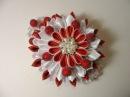 Уроки Канзаши . Многослойный цветок Зимняя Вишня Мастер класс Канзаши