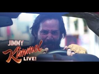 Киану Ривз и Джимми Киммел снялись в пародии на фильмы «Форсаж» и