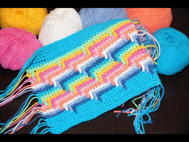 Схема вязания крючком узора Слезы Индейца Diagram crochet pattern Tears Injun