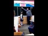 Girl kicks her teacher in balls (with English subtitles)