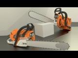 High poly Chainsaw (Timelapse Video) - Blender modelling
