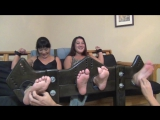 Mother and Daughter tickled