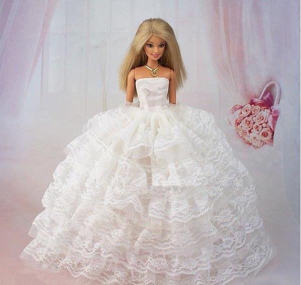 Как сшить пышное платье кукле барби своими руками
