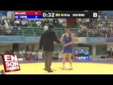 Azeri güreşçinin zafer dansı büyüledi   mükemmel dans