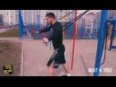 Уличная тренировка с резиновыми петлями