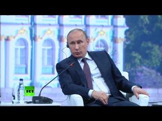 В. Путин рассказывает Американцам кто они и где их место. Абсолютное зело - s - есть такая букова в Общенац. Русском языке