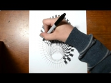Drawing a Hole - Anamorphic Illusion