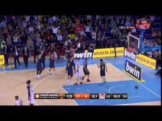 CRAZY SHOT! Marcelinho Huertas 1st Quarter Buzzer / Barcelona Regal - Olympiacos