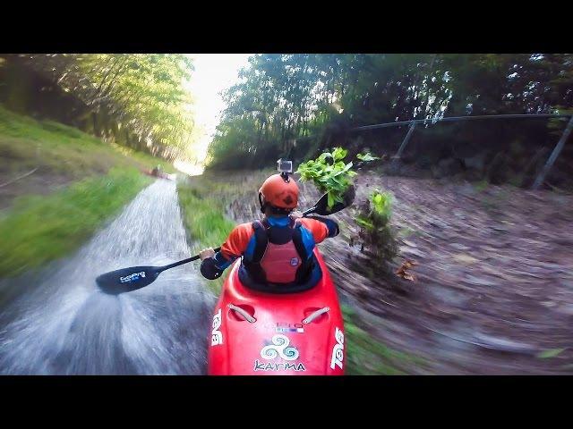GoPro Drainage Ditch Kayaking
