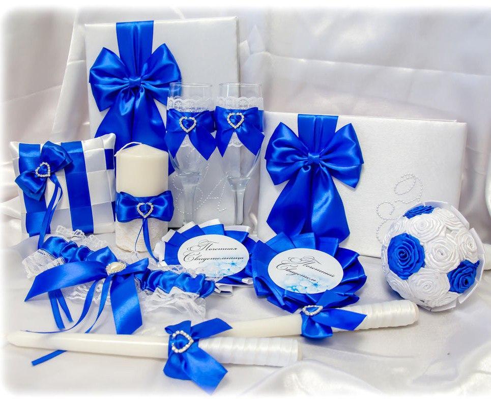 Свадебные аксессуары своими руками синие