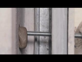Крепление в стену через гипсокартон, при монтаже своими пуками перил из нержавейки без сварки
