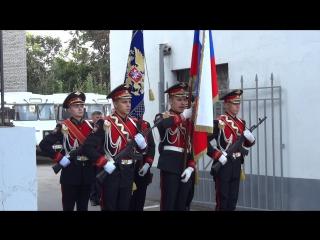 . Часть 1. Знаменная группа выносит знамя СВУ МВД