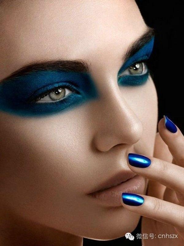 First Beauty Set Bold Blue Eye Makeup Polyvore