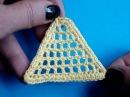 Вязание крючком Урок 211 Треугольник филе Triangle crochet motif