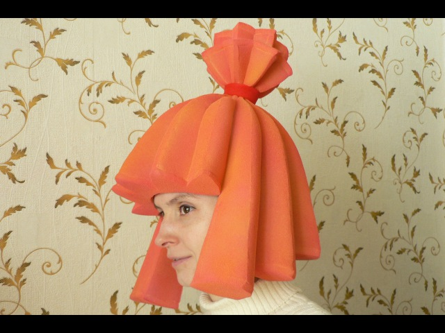 Фиксики Как сделать шапочку парик для костюма Симки