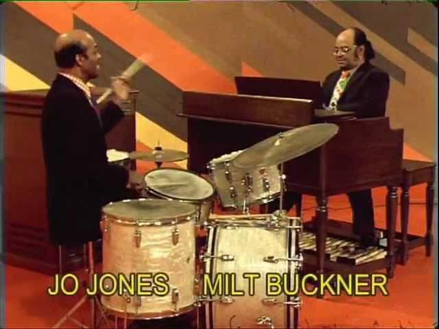 George Benson, Jo Jones, Milt Buckner, Jimmy Slyde in L'Aventure du Jazz