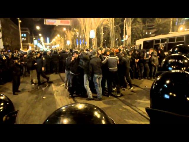 Драка в Донецке 13 03 2014