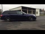Mercedes E63 supercharged 700HP+ BURNOUT