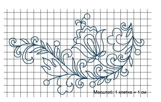 Рисунки вышивок тамбурным швом