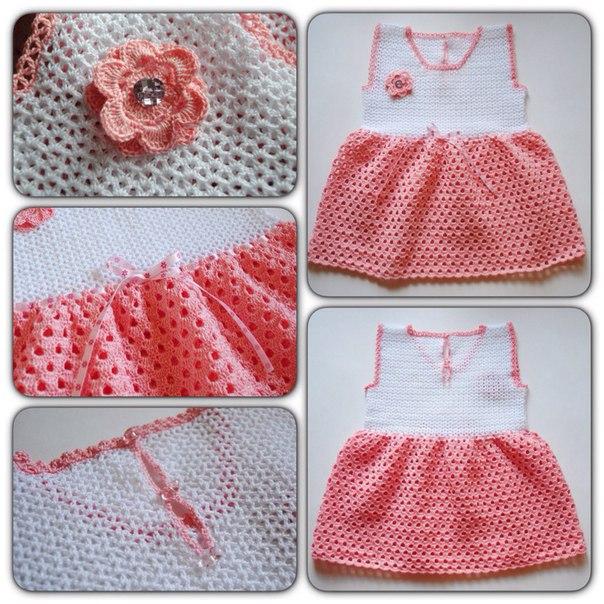 Платье для маленькой принцессы. Связано крючком… (1 фото) - картинка