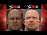 WWE 2K16 vs WWE 2K15 Superstar Face Comparison (John Cena, Triple H, King Barret  Stone Cold!)