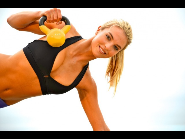 Full Body Kettlebell Workout Kettlebell Exercises Music Only Workout with Warmup Cool Down