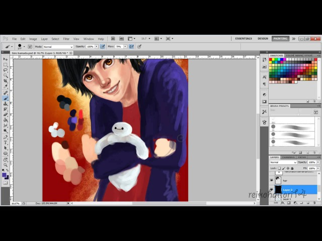 Hiro and Baymax Speed Paint