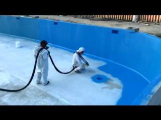 FIRNISCOM - Гидроизоляция плавательного бассейна на 500 тонн воды. объект сделан в Молдове