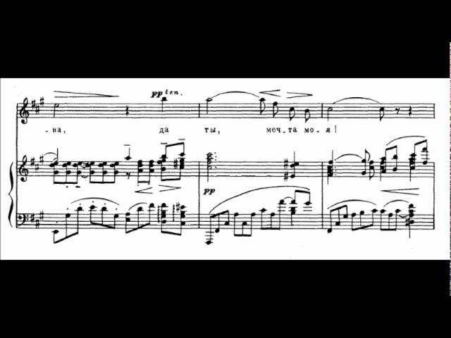 Zdes khorosho (Op 21 No 7, RACHMANINOFF) - Anna NETREBKO (score animation)